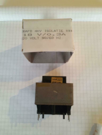Printtrafo 18v 0.3A 45mmx45mmx35mm (partij)