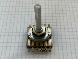 Draaischakelaar 3 standen 6mm as inbouwdiepte 1,5cm (partij)