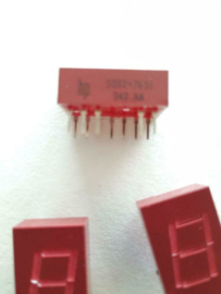 HP LED 7 segment display digit 10,9mm (grote voorraad)