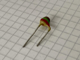 Philips 1500pF (1,5nF)  500V pin up keramische condensator 7,5mm steek