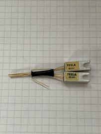 Tesla GC511 + GC512 (AC187+AC188) germanium transistoren set