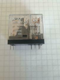Printrelais 12V 10A 2x wissel