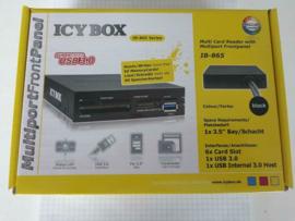 """Icybox IB-865-B 3.5"""" cardreader met ext Sata en USB3.0 port"""