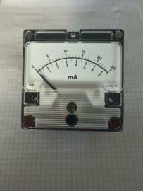 Analoge paneelmeter 25mA 85mmx85mmx43mm