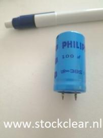 Philips 100uf 385v radiaal elco