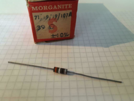 Morganite carbon weerstand 39 Ohm 0,5w