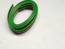 Regenboog bandkabel  6 polig 1mtr