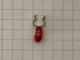 Tantaal condensator 0,47uF 35v (per 10)