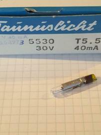 Taunus lampje 30V T5.5 40mA
