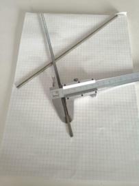 Draadeind schroefdraad M5 x  240mm