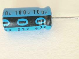 Philips 100uf 63v elco radiaal
