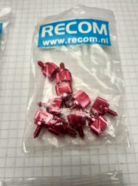 Recom Tumb Screws 10 stuks Red anodized