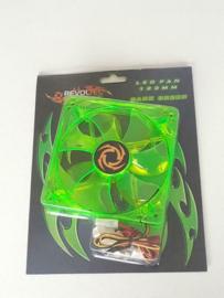 Revoltec ventilator 120mm 3pin groene LED fan