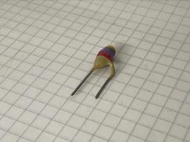 Philips 4700pF (4,7nF) 500V pin up keramische condensator 7,5mm steek