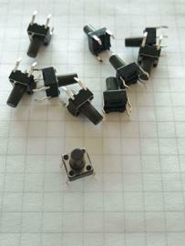 10x mini drukschakelaar 6x6x5mm