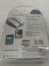 Keysonic Metal Optical Mouse Alu USB
