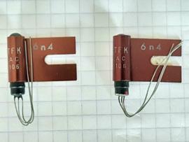 Germanium transistor AC106 incl koeling set van 2