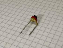 Philips 1000pF (1nF) 500V pin up keramische condensator 7,5mm steek