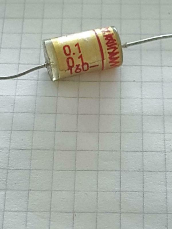 Wima 0,1uf 160v TFF 100nf axiaal condensator