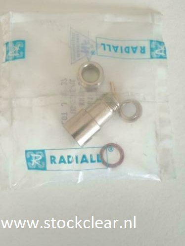Radiall N connector female gold pin