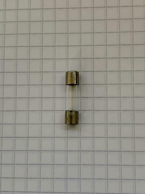 Glaszekering 125mA 250v 5X20mm
