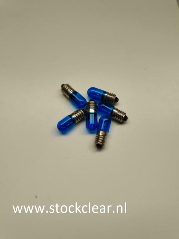 Philips E10 6,3v 0,25A blauw