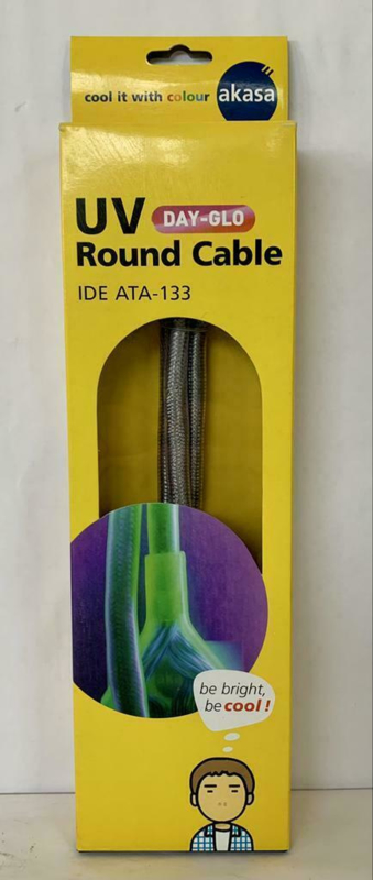 Akasa UV Day-Glo round cable IDE ATA-133 90cm