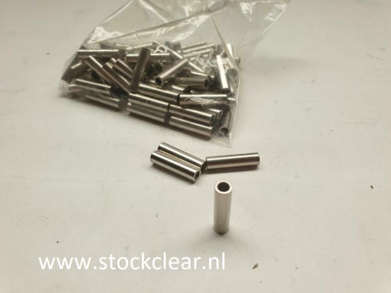 Afstandbus 20mm x 5mm metaal 100 stuks