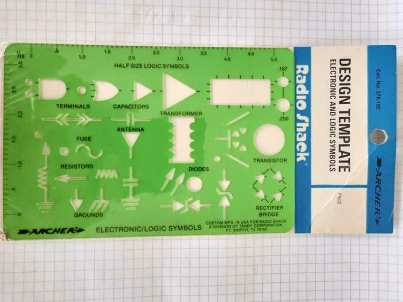 Electronica symbool schemakaart
