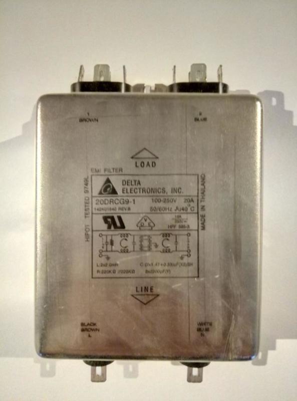Delta EMI Filter 20A 100-250V