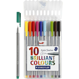Triplus fineliner (set van 10)