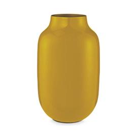 Ovalen vaas metaal geel