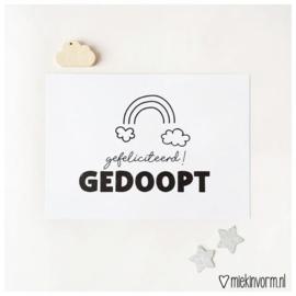 Ansichtkaart - Gedoopt
