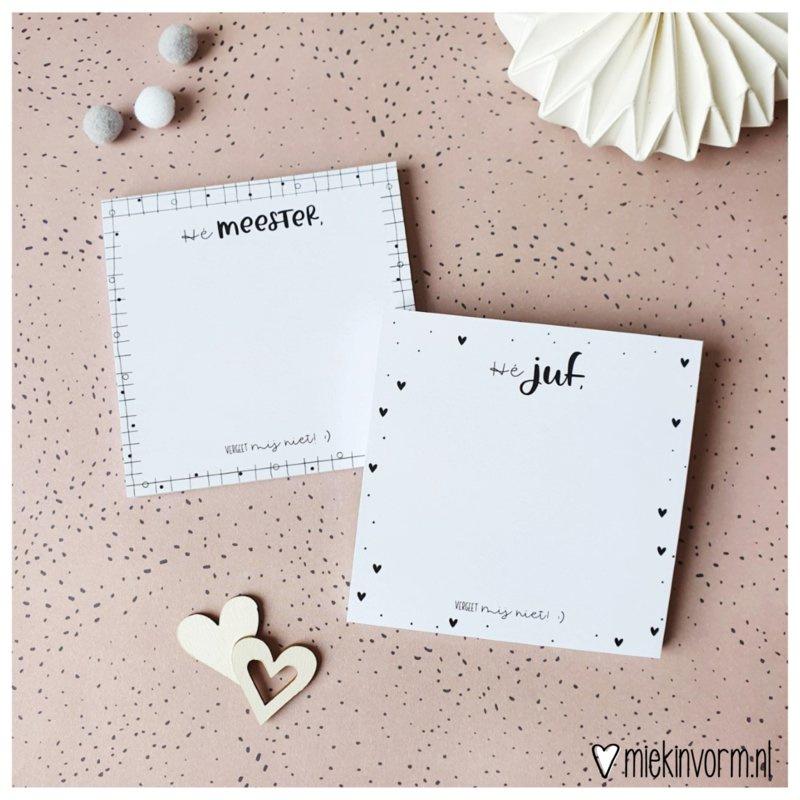 Post-it notes - Hé Meester, vergeet mij niet!:)