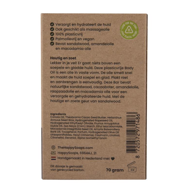Body Oil Bar - Sweet Sandalwood