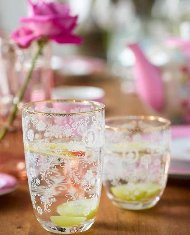 Longdrink Glass Floral 400ml