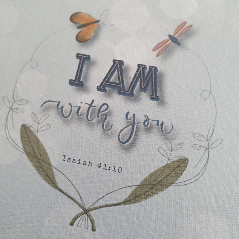 Ansichtkaart Jesaja 41:10 'I am with you'