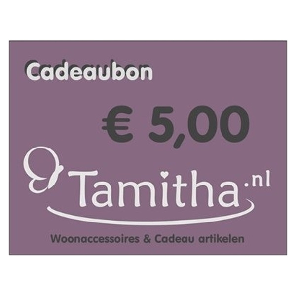 Cadeaubon €5,00