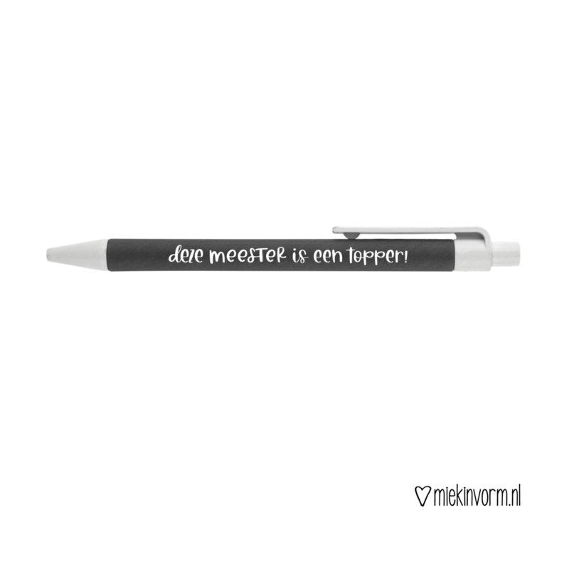 Pen - deze meester is een topper