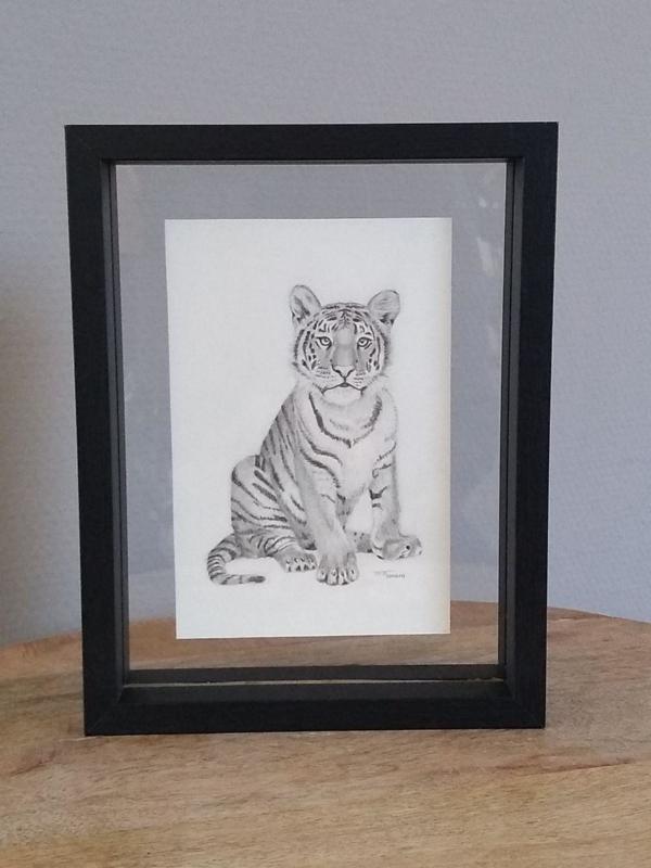 Tekening tijger