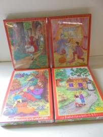 Fame sprookjes puzzels 4 assorti 36 pieces afm doos 25x18 cm prijs per stuk