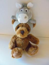 pluche muts ezel voor pop of beren  15 cm prijs per stuk