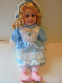 sier pop blauw 50 cm prijs per stuk