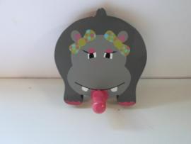 Kinder kapstok nijlpaard 11 x 12 cm prijs per stuk