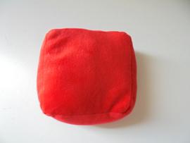pluche kussentjes rood 16 x 16 cm prijs per stuk