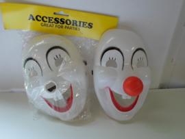partij 50 stuks Masker Hapy Clown prijs per partij a 50 stuks