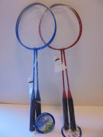 Badminton set met shuttle 65 cm rood blauw prijs per set