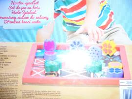 Houten blokjes speelset boerderij 24x24 cm prijs per stuk