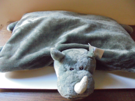 pluche kinder knuffel speel kussen neushoorn afm 65x55 cm