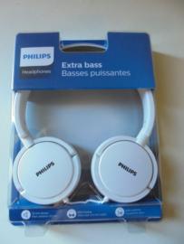 Philips Headphones wit extra Bass prijs per stuk